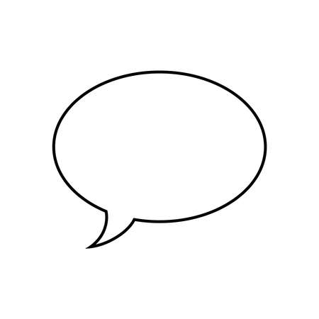 Speech bubble graphic icon on white