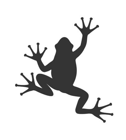 Frog graphic icon. Frog black sign isolated on white background. Vector illustration