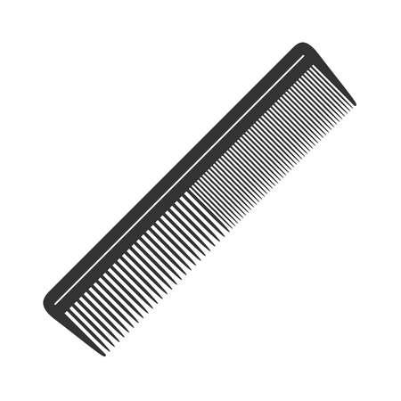 Icône graphique de brosse à cheveux. Signe de peigne isolé sur fond blanc. Symboles de salon de coiffure. Illustration vectorielle