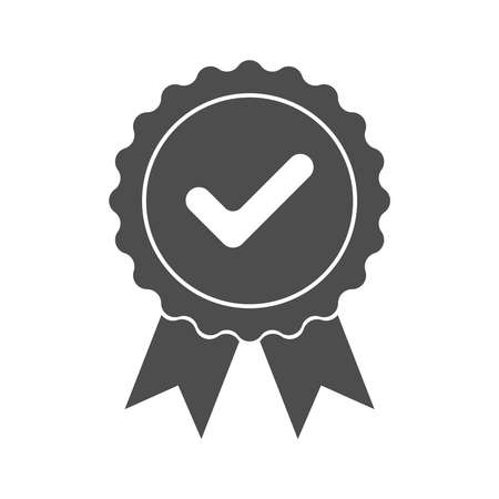 Approved or certification icon. Quality production sign. Match symbol. Confirmatory sign isolated on white background. Vector illustration