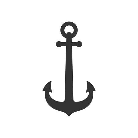 Anchor of ship graphic icon. Anchor sign Isolated on white background. Vector illustration Illusztráció