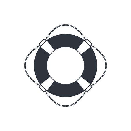 Lifebuoy graphic icon. Ship lifebuoy sign isolated on white background. Symbol salvations. Vector illustration Illusztráció