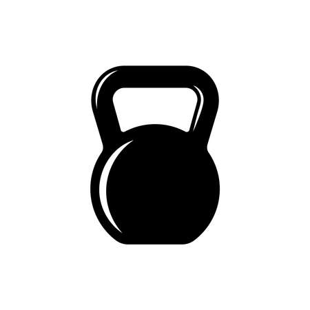 Kettlebell graphic icon. Kettlebell sign isolated on white background. Gym symbol. Vector illustration
