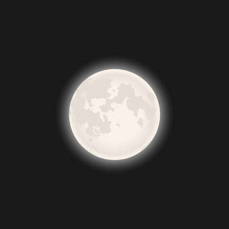 Full moon graphic symbol. Light of the Moon graphic poster. Vector illustration