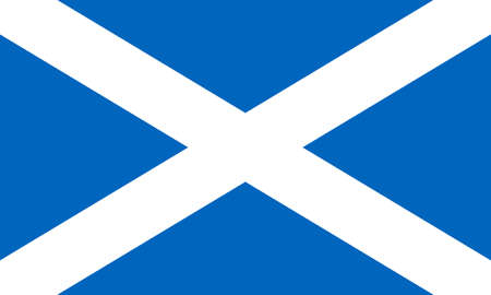 Scotland flag with official colors and the aspect ratio of 3: 5. Vector illustration.