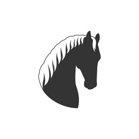 Head horse graphic icon. Horse head sign isolated on white background. Vector illustration