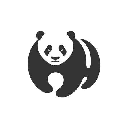 Panda graphic icon. Panda stylized sign isolated on white background. Bamboo bear symbol. Vector Illustration 向量圖像