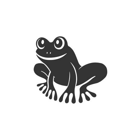 Frog graphic icon. Frog sign isolated on white background. Tree frog symbol. Vector Illustration 向量圖像