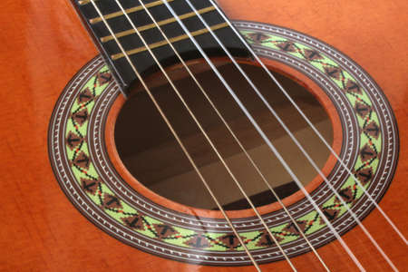 Acoustic guitar close up  Stock Photo