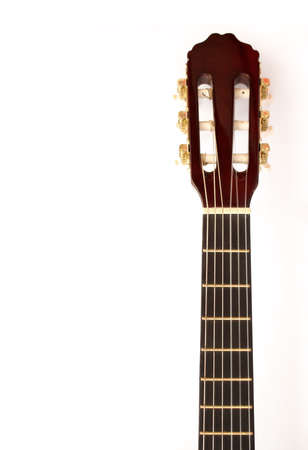 Isolated on white acoustic guitar wallpaper Stock Photo