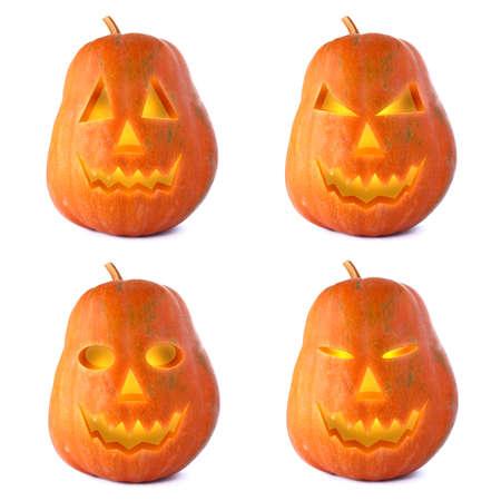 Halloween Jack-o-Lantern isolated on white bacground