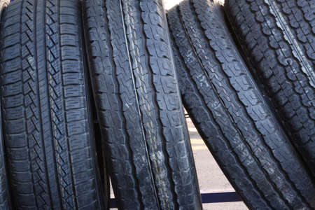 Stacked tires close up Stock Photo - 15970605