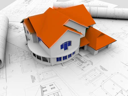3D plan drawing Stock Photo - 7324825