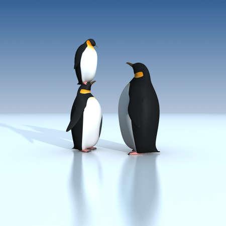 Fun penguins photo
