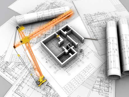 3D plan drawing photo
