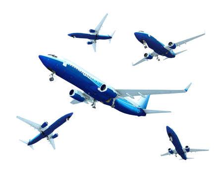 boeing: Getto aeroplano sbarco, isolato on white