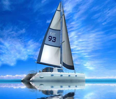 Modern sail boat  photo