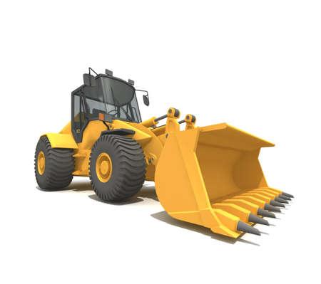 shovel in dirt: Isolated bulldozer Stock Photo