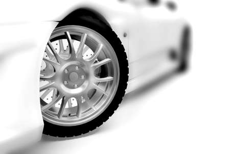 Sport car made in 3d Stock Photo - 7324236