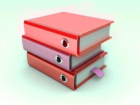 3d illustration of archive folders stack Stock Illustration - 7324175