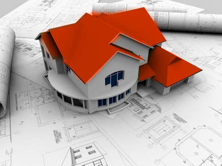 3D plan drawing Stock Photo - 7324907