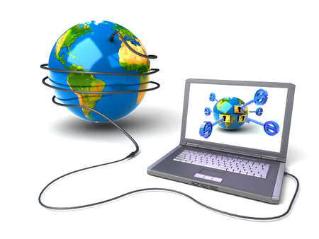 lan connection: Global network the Internet Stock Photo