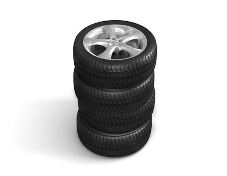 Wheels for the sports car Stock Photo - 7324113