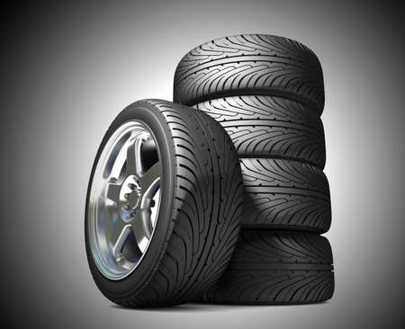 Wheels for the sports car  Stock Photo - 7324919