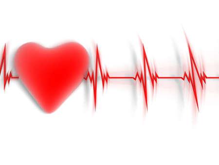 heart and heartbeat symbol photo