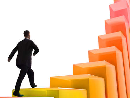 corporate ladder: Laying of a brick wall