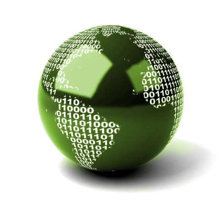 Binary Globe Stock Photo - 7324726