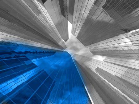 Edificios abstractas  Foto de archivo - 7325228