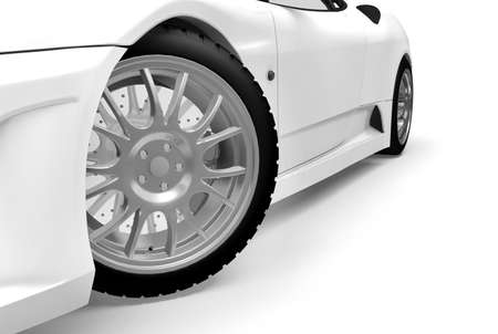 Sport car made in 3d Stock Photo - 7345597