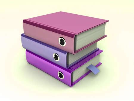 3d illustration of archive folders stack Stock Illustration - 7345444