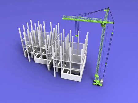 3D plan drawing Stock Photo - 7345604