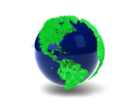 Green Globe Stock Photo - 7345721