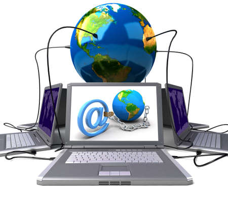 Global network the Internet Stock Photo - 7345611