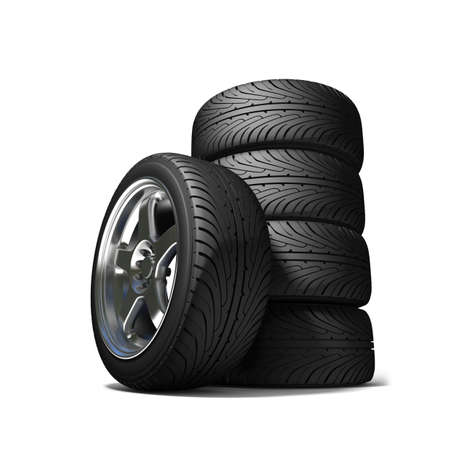 traction: Wheels for the sports car   Stock Photo