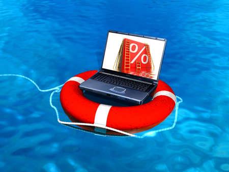 Laptop help Stock Photo - 7345674