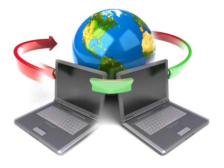 communicatie: Wereldwijde net werk Internet