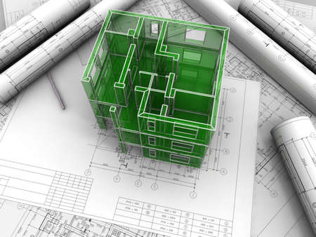 Breadboard model of a building made under drawings Stock Photo - 7345777