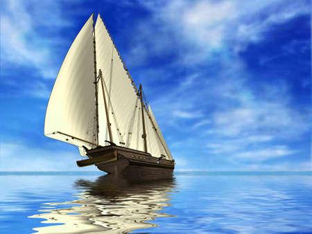 pirate crew: Sailing Stock Photo