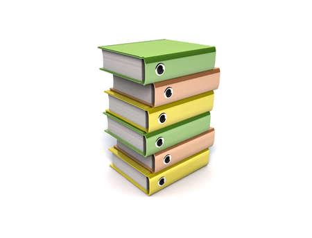 3d illustration of archive folders stack Stock Illustration - 8926372