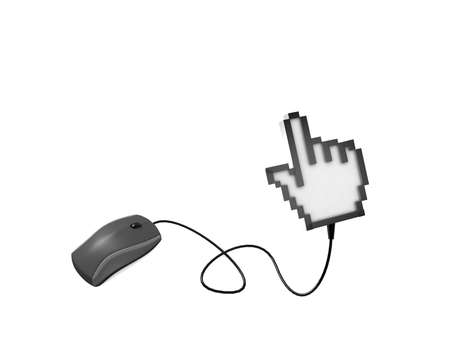 Computer mouse and cursor, Internet concept  Stock Photo - 11047044