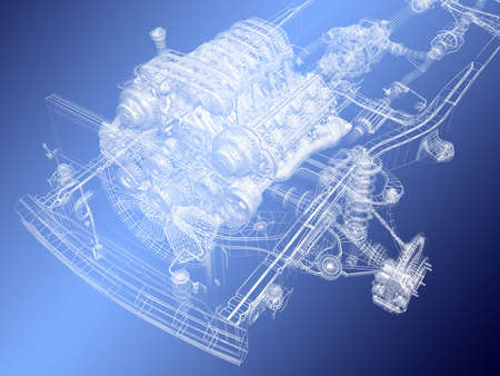 car engine: The engine project Stock Photo