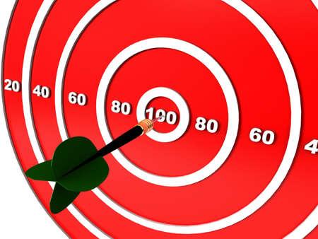 Dart hitting the target  photo
