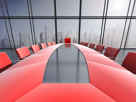 board room: Conference room interior