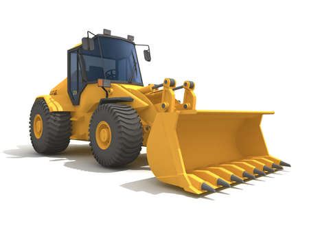 agricultural tools: Big yellow buldozer