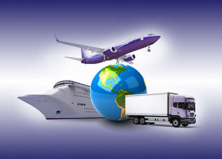 shipping by air: Globe