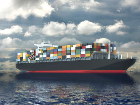 antwerp: Large container ship
